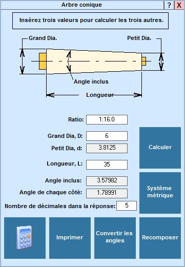 Application Arbe conique