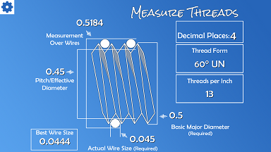 Measure threads with Machinist's Calculator
