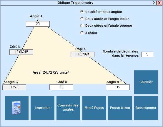 Application Triangles obliques